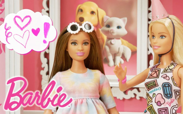 Birthday Party Surprise with the Barbie® Crayola® Color-In Fashion Dolls