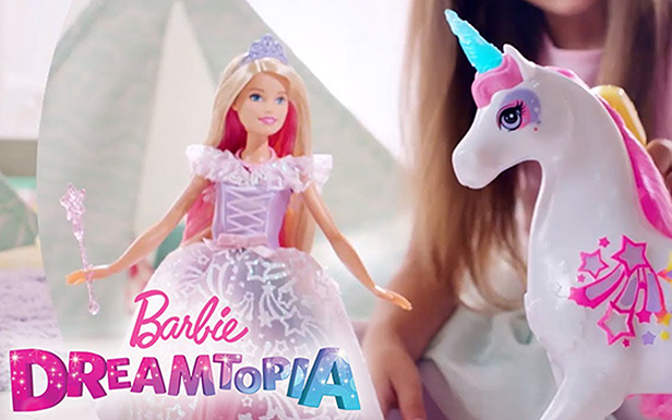 Behind the Scenes with Barbie® Doll and the Barbie™ Dreamtopia Brush 'n Sparkle Unicorn