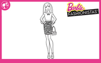 Printable : Fashionistas Coloring Page 3
