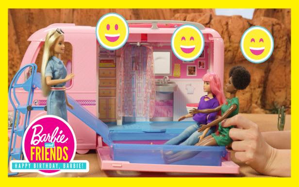 Music Festival Road Trip in the Barbie® DreamCamper®