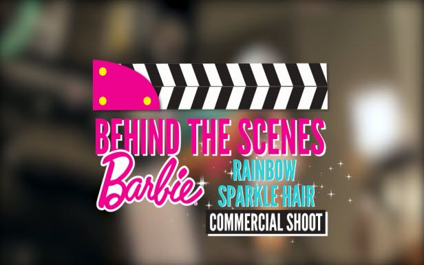 Behind the Scenes with Barbie Rainbow Sparkle Hair Doll