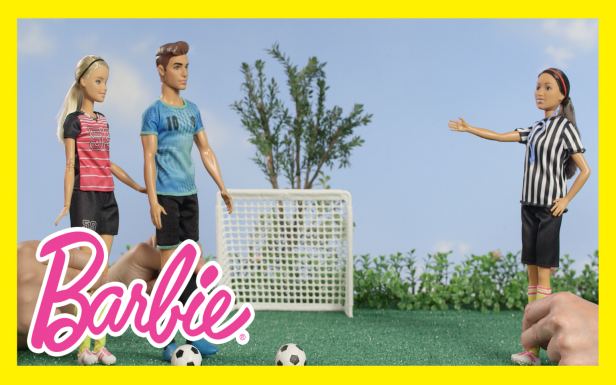 Barbie® vs. Ken™ in a Soccer Challenge