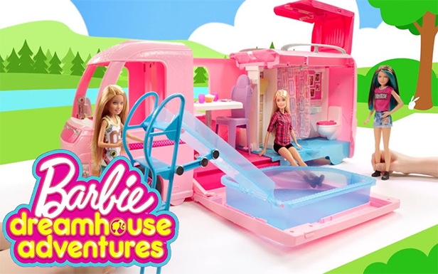 Barbie® Doll and Her Friends in a Barbie™ Storytelling Fun - Dreamhouse Adventures Camping Remix