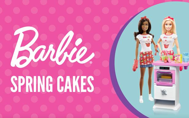 Barbie® Makes Spring Cakes
