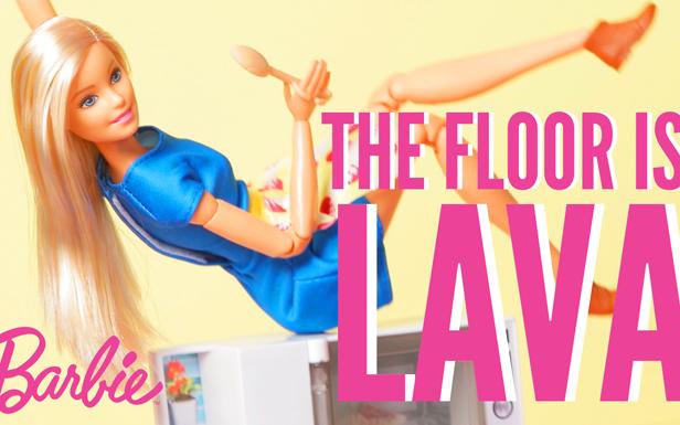 Floor is Lava Challenge in Home