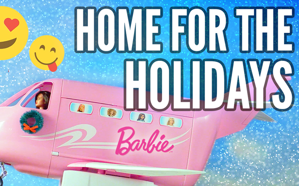 Barbie and Her Friends Head Home for the Holidays