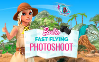 Barbie Fast Flying Photoshoot Game