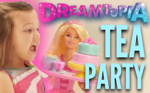 Tea Party with Barbie Dolls in Barbie Dreamtopia Sweetville