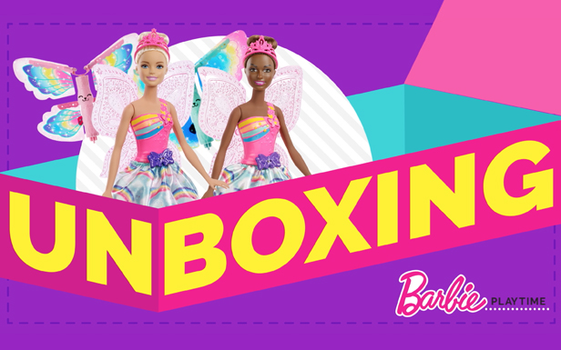 Unbox Barbie™ Dreamtopia Flying Wings Fairy Dolls and Soar Through