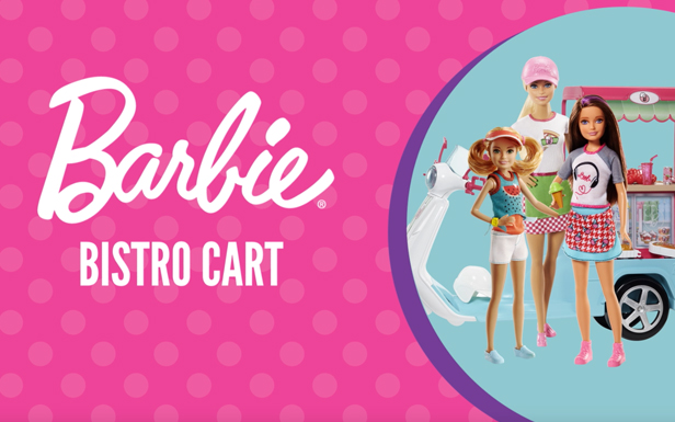 Barbie® Enters Her Bistro Cart Into a Cooking Competition