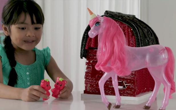Barbie Dreamtopia Unicorn Barn Recreation