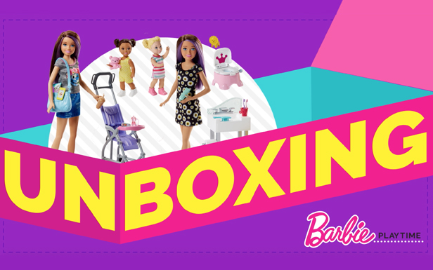 Unboxing Fun with Barbie® Skipper™ Stroller & Potty Training Playsets