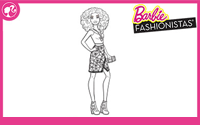 Printable : Fashionistas Coloring Page 1