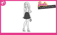 Printable : Fashionistas Coloring Page 7