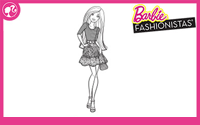Printable : Fashionistas Coloring Page 8