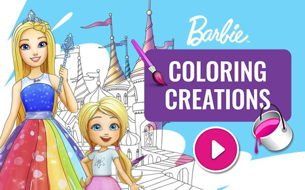 Download free and fun Barbie activities - coloring pages