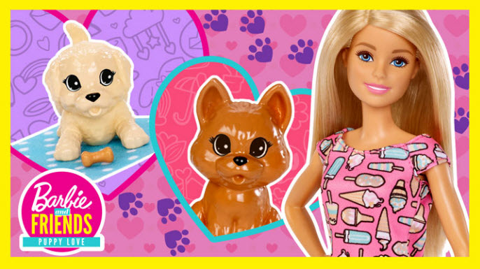 Barbie and Chelsea Throw a Valentine's Day Puppy Party