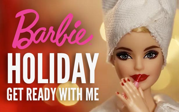 Get Ready with Holiday Barbie™ Doll