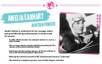 Printable : Inspiring Women Amelia Earhart