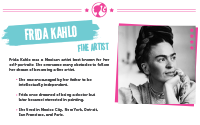 Printable : Inspiring Women Frida Kahlo