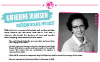 Printable : Inspiring Women Katherine Johnson