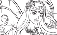 Printable : Fairy Secret Coloring Page