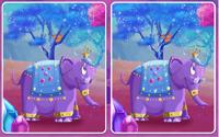 Reino de la montaña de purpurina ¡Busca las diferencias!