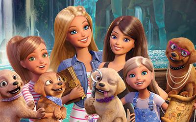 """Película digital: Barbie™ y sus hermanas en """"Perritos en busca del tesoro"""""""