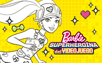 Printable Barbie Video Game Hero Coloring Page 1