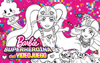 Printable Barbie Video Game Hero Coloring Page 2