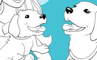 Para imprimir: Página para colorear de Taffy divertida