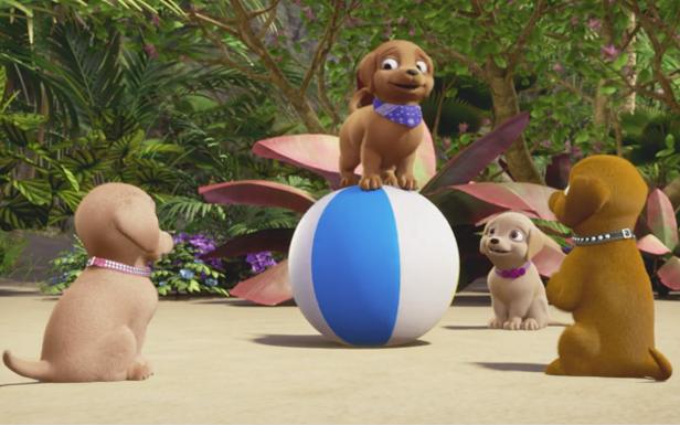 ¡Detrás de cámaras en una aventura de perritos!