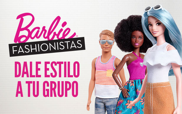 Dale estilo a tu grupo en Barbie Fashionistas