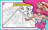 À imprimer : Coloriages 3 Barbie en Super Princesse