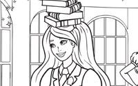 プリント: ぬりえ - バービーのチャームスクール