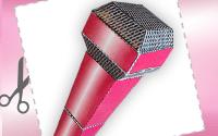 Материал для распечатывания : Бумажный микрофон поп-звезды
