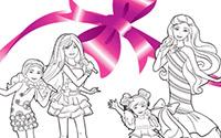 可打印文件: 《芭比之完美圣诞》填色画