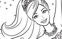可打印文件: 《芭比之粉红舞鞋》填色画1
